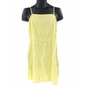 BP. Linen Blend Minidress Yellow L